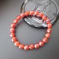 【30%OFF】【天然石ブレスレット】64面カット赤メノウ(10mm)ブレス【天然石 メノウ】