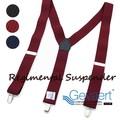 【GEVAERT】■サスペンダー■35mmY型レジメンB柄★ベルギーの老舗ゲバルト社★日本製