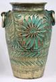 【イタリア製】陶器壷型傘立て(グリーン・ブルー・レッド)