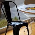 【新商品】MS856 ガーデニングチェア ダイニングチェア ブラック デザイナーズ家具