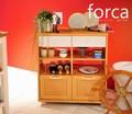 【送料無料】☆在庫限りの大幅値下げ☆ forca(フォルカ)食器棚 キッチンワゴン(75cm幅)WH×NA