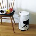 【ネコ/CAT(猫)】ダストビン(ごみ箱) ホワイト