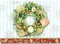 PUNCH STUDIO    クリスマスカード 3Dレイヤー <リース×貝>