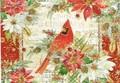 PUNCH STUDIO    クリスマスカード 3Dレイヤー <鳥×フラワー>