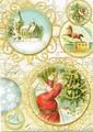 PUNCH STUDIO    クリスマスカード 3Dレイヤー <サンタ×ツリー>