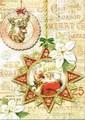 PUNCH STUDIO    クリスマスカード 3Dレイヤー <サンタ×トナカイ>