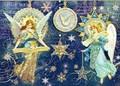 PUNCH STUDIO    クリスマスカード 3Dレイヤー <天使×鳥>