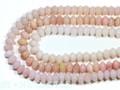 【天然石カットビーズ】オパール(ピンク) ボタン型 約6x9mm【天然石 パワーストーン】