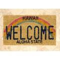 【玄関マット】コイヤーマット[Hawaii Welcome:レクト6126]