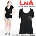 【LNA】 S/S Silk Pocket Tee Black
