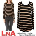 【LNA】 Spencer Striped Sweater Oat/Black