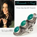 【Soixante Neuf】 3 Stone long ring with Turquoise