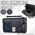 【♪SALE】財布 機能的!! メンズ セカンド バッグ ショルダー付 型押しBAG◆LAP-3947