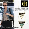 【House of Harlow 1960】14kt y/g Plated Enameled tribal Triangle Necklace