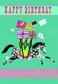 ROGER LA BORDEグリーティングカード バースデー用 <馬×プレゼント>