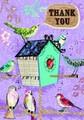 ROGER LA BORDE グリーティングカード サンキューカード <鳥×バードハウス>