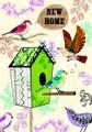 ROGER LA BORDEグリーティングカード 引っ越し・新居祝い用 <鳥×バードハウス>