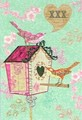 ROGER LA BORDEグリーティングカード <鳥×バードハウス>