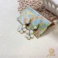 "★Lips2014年5月号掲載商品★【Notle】""WHITE""Flower shineノンホールピアス"