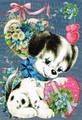ROGER LA BORDEグリーティングカード  <犬×ハート>
