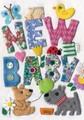 ROGER LA BORDEグリーティングカード 出産祝い用 <パッチワーク×犬>