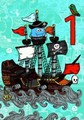 ROGER LA BORDEグリーティングカード バースデー1歳用 <海賊×船>