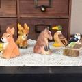 5型展開 木彫りの動物たちペンシルシャープナー♪