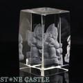 【天然石彫刻置物】人工水晶 恵比寿(レーザー彫刻) 約50×78mm【天然石 パワーストーン】