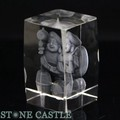 【天然石彫刻置物】人工水晶 大黒天(レーザー彫刻) 約50×78mm【天然石 パワーストーン】