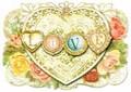 PUNCH STUDIO バレンタインスモールグリーティングカード(3Dレイヤー) <バラ×ハート>