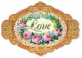 PUNCH STUDIO バレンタインスモールグリーティングカード(ダイカット) <LOVE×フラワー>