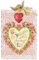 PUNCH STUDIO バレンタインスモールグリーティングカード(ダイカット) <天使×ハート>
