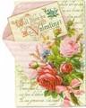 PUNCH STUDIO バレンタインスモールグリーティングカード <フラワー>