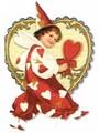 PUNCH STUDIO バレンタインスモールグリーティングカード <ハートの衣装>