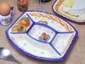 【ポルトガル製】 パーティプレート【バルセロスのニワトリ】5つ仕切り皿 ランチプレート