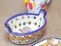 【ポルトガル製】 バスケット【バルセロスのニワトリ】陶器製小物入れ