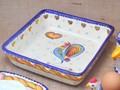 【ポルトガル製】パスタプレート スクエア【バルセロスのニワトリ】手描き 角皿 22cm 深皿