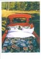 PALM PRESS グリーティングカード <車×ベッド>