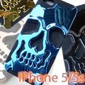 【在庫処分SALE】iPhone5 携帯 カバー au SoftBank シンプル スマホケース ドクロ スカル◇IP-75-78