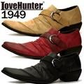 [LOVE HUNTER ラブハンター]お兄系バターナイフドレープベルトシューズ1949<PUカジュアルシューズ>
