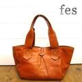 【fes/フェス】カウレザーハンドバッグ