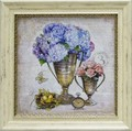 チャド バレット アートフレーム【アンティーク風】花瓶/フラワー<樹脂フレーム>