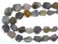 【天然石カットビーズ】ナチュラルアゲート タンブルカット 約8×12〜16×18mm (数量限定商品) 天然石