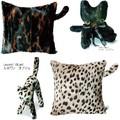 【SABY&LEPOINT】サヴィ&ルポワン ヴィロードのような手触りのキュートな猫ちゃんクッション