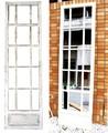 アンティーク仕上げ【木製枠壁掛けミラー/鏡-】ホワイト格子-木製-窓枠x15ウォールミラー