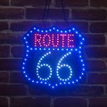 LEDダイカットボード[ROUTE66]<アメ雑>