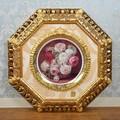 ★歳末SALE特価★珍品!|ITALIA CORNICI 飾り皿の額絵 八角 薔薇 バラ