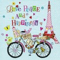 Paper+Design ペーパーナプキン  <エッフェル塔×自転車>