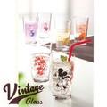 ヴィンテージグラス【ディズニー】【ミッキー】【ガラス】【シンプル】【タンブラー】【ガラス】