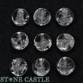 【天然石彫刻ビーズ】水晶 10mm (素彫り) 龍生九子(全9種セット)【天然石 パワーストーン】